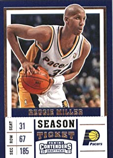 2017-18 Panini Contenders Draft Picks Season Ticket White Jersey #41 Reggie Miller Indiana Pacers