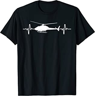 Helicopter Heartbeat Shirt - Pilots and Aviation