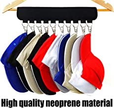 XJunion Cap Organizer Hanger, 10 Baseball Cap Holder, Hat Organizer for Closet - Change Your Cloth Hanger to Cap Organizer Hanger - Keep Your Hats Cleaner Than a Hat Rack