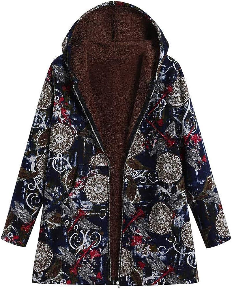 BCDshop Women Coat Jacket Warm Cotton San Francisco Mall Fur Fluffy Wool New product! New type Linen Full