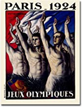 Paris 1924 Jeux Olympiques by Jean Drout, 24x32-Inch Canvas Wall Art