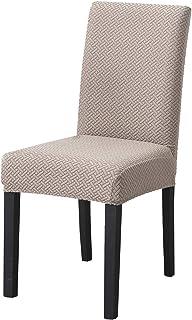 PETCUTE Fundas para sillas de Comedor Universal Protectores de sillas de Cocina Fundas para sillas Modernas Respaldo Alto Caqui 6 Piezas