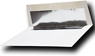 Silver Foil-Lined 70lb. Bright White A7 Envelopes (5-1/4