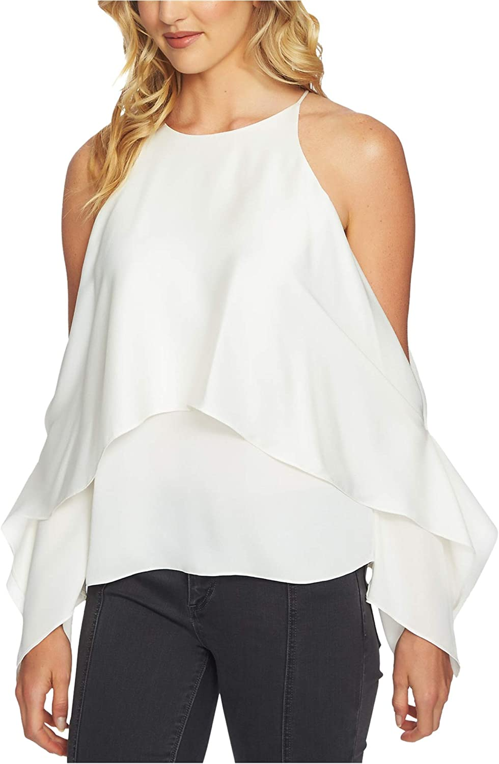 1.State Womens Tiered Off The Shoulder Blouse