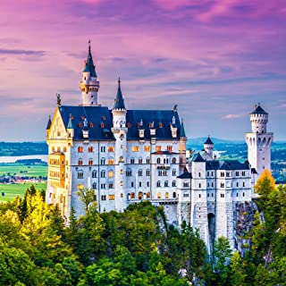 Mosaic Puzzles - Wooden Jigsaw Puzzle – Neuschwanstein Castle - 199 Unique Pieces - Made in The USA