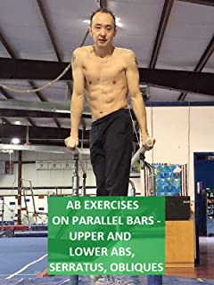 Ab Exercises on Parallel Bars - Upper and Lower Abs, Serratus, Obliques