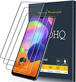 QHOHQ Screen Protector voor Samsung Galaxy A31, [3 Pack] Tempered Glass Film, 9H Hardheid - Geen bubbels - Anti-vingerafdr...