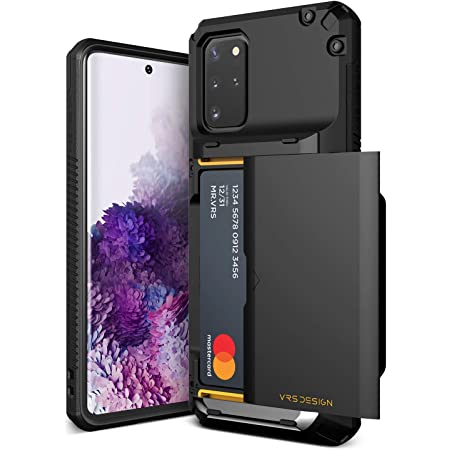 VRS DESIGN Damda Glide Pro for Galaxy S20 Plus, with [4 Cards] [Semi Auto] Premium Sturdy Credit Card Slot Wallet for Samsung Galaxy S20 Plus 5G Case 6.7 inch(2020)