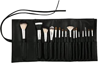 Crown Essentials Professional Makeup Brushes Set Made With Premium Natural Hairs comes with Leather Storage Pouch (16pc Set)
