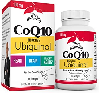 Sponsored Ad - Terry Naturally Bioactive Ubiquinol CoQ10, 100 mg - 60 Capsules - Bioactive Antioxidant - Beneficial for He...