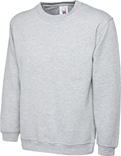 Shoppersbay Uneek UC201 Men Adults Crew Neck Long Sleeves Premium Sweatshirt XS-2XL