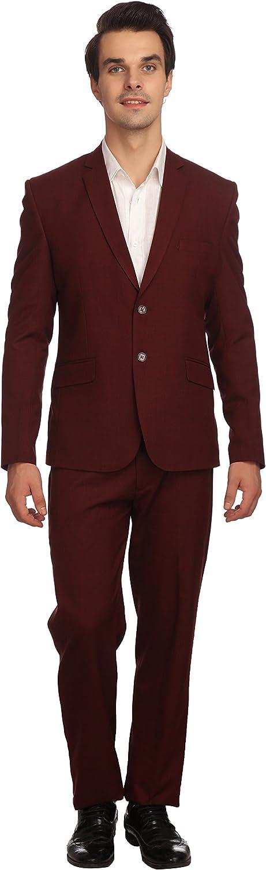 WINTAGE Men's Wool Two Button Notch Lapel Suit: Two Colors
