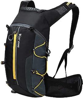 Mochila de ciclismo impermeable, mochila de ciclismo plegable mochila de bicicleta de montaña amarilla