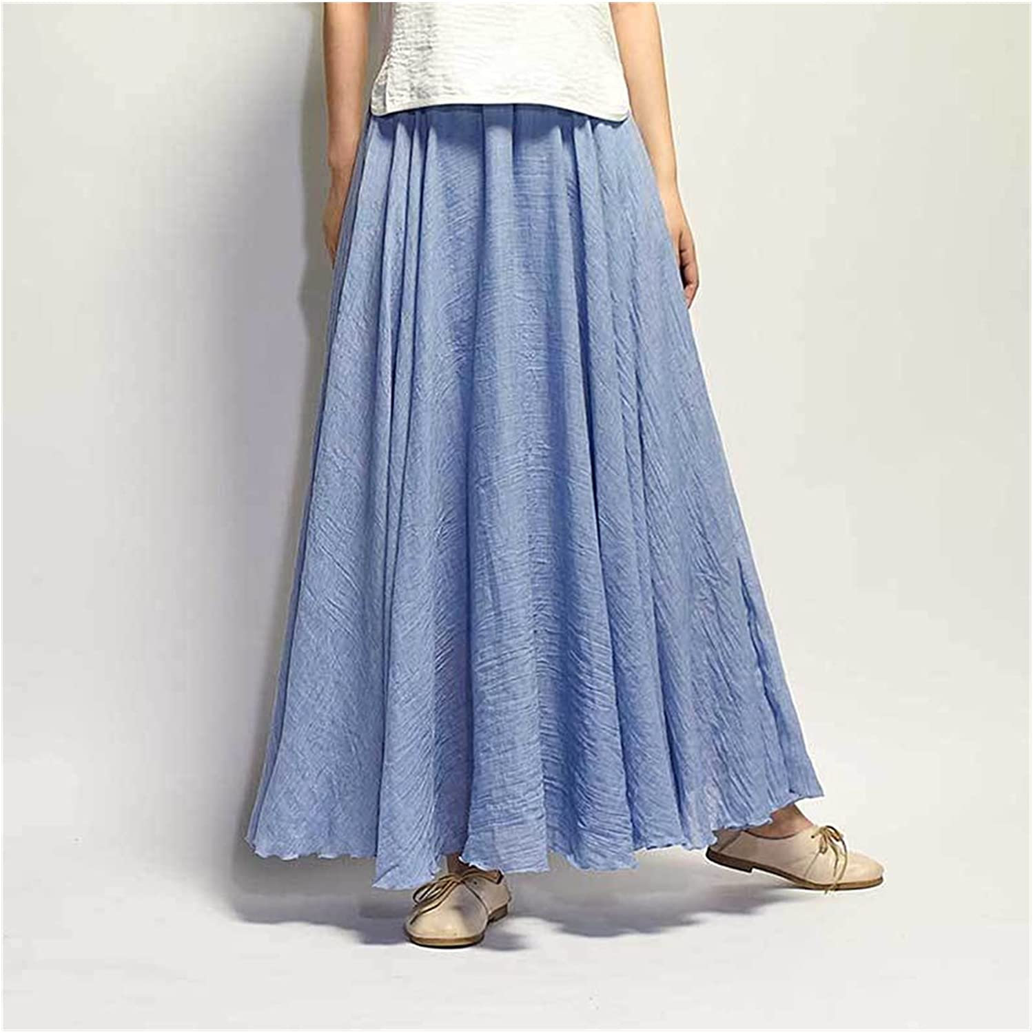 Uongfi Wedding Online limited product Dresses for Bride Courier shipping free shipping Linen Skirts Cotton Women Long