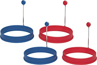 Mrs. Anderson's Baking 43675/2 Egg and Pancake Cooking Rings, Round, Set of 4, Nonstick Silicone