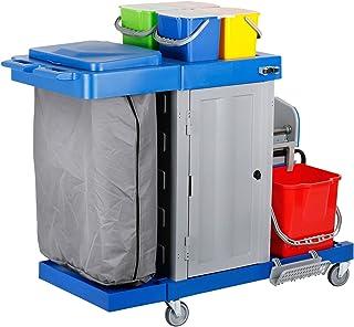 STIER Grand chariot d'hygiène et de nettoyageavec porte, capacité: 2x 18 l et 4x 6 l, 30,5 kg, chariot nettoyage, chariot...