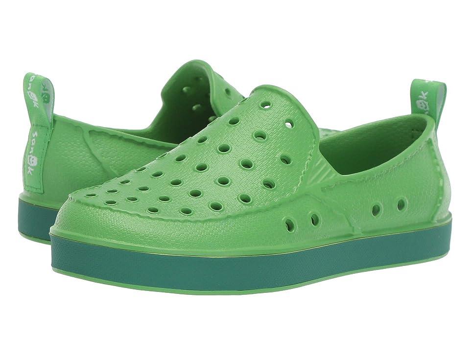 Sanuk Kids Lil Walker (Little Kid/Big Kid) (Green/Green) Kids Shoes