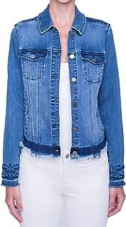 Liverpool Womens Embroidered Denim Jacket Melbourne Light Medium, Large, Extra Large