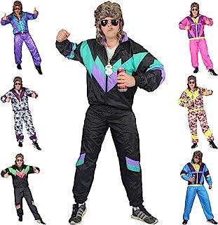 Foxxeo Premium 80er Jahre Kostüm für Erwachsene Trainingsanzug Assianzug Assi Gr. S - XXXL Größe XL