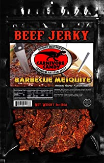 Carnivore Candy Beef Jerky Three Pack (Three 3oz Bags) (Barbecue Mesquite)