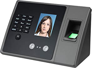 Time Clocks for Employees Small Business, Biometric Fingerprint, Face & Password Recognition Attendance Terminal Clock Mac...