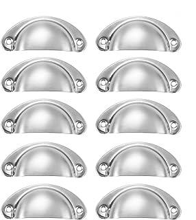 10 manijas con forma de cáscara de granja con tornillos adecuados para cajones aparador puerta gabinete cofre de joyerí...
