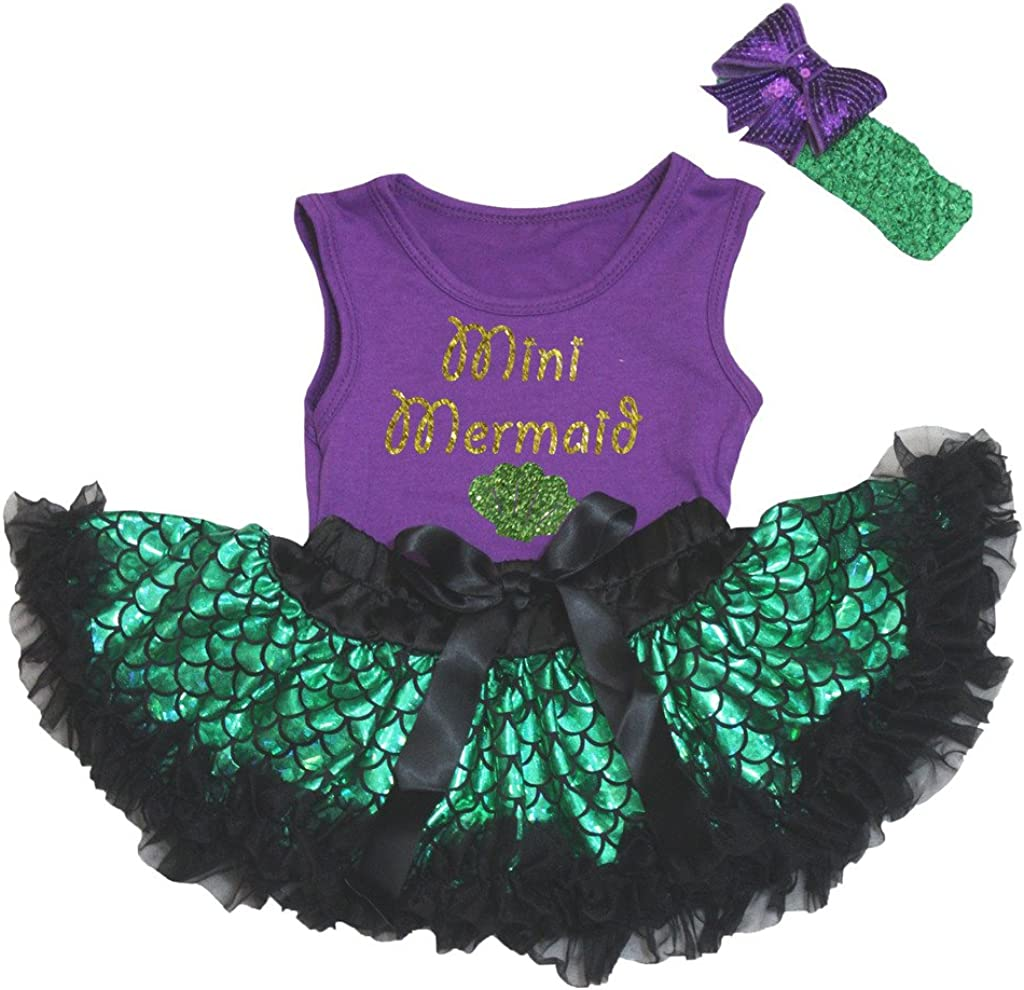 Petitebella Bling Mini Mermaid Purple Shirt Green Scale Bab Fish Cheap mail order Special price for a limited time sales
