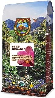 Java Planet - Organic Coffee Beans from Peru, Fair Trade, Medium Dark Roast, Arabica Gourmet Coffee Grade A, packaged in 1 LB bag
