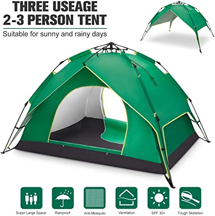 BATTOP 2-3 Person Tent for Camping Instant Pop Up Tents 4...