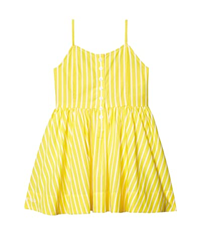 Polo Ralph Lauren Kids Striped Cotton Poplin Dress (Toddler) (Lemon Rind Multi) Girl