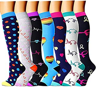 Compression Socks Women & Men - Best for Running,Medical,Athletic Sports,Flight Travel, Pregnancy