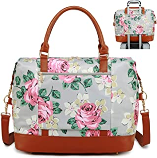 Weekend Overnight Travel Bag for Women Carry on Water-resistant Duffel Tote Bags in Trolley Handle