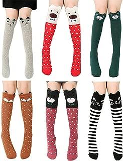 Girls Socks Knee High Socks Cotton Over Calf Long Boot Socks Gifts for Girls Teens Kids