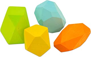 Large Colored Wooden Gems for Balance Stacking & Creative Sculpture Building