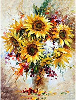 DIY Paint by Number TUMOVO, Sunflower Adult Paint by Numbers, Paint by Numbers for Kids with Brushes and Acrylic Pigment, ...