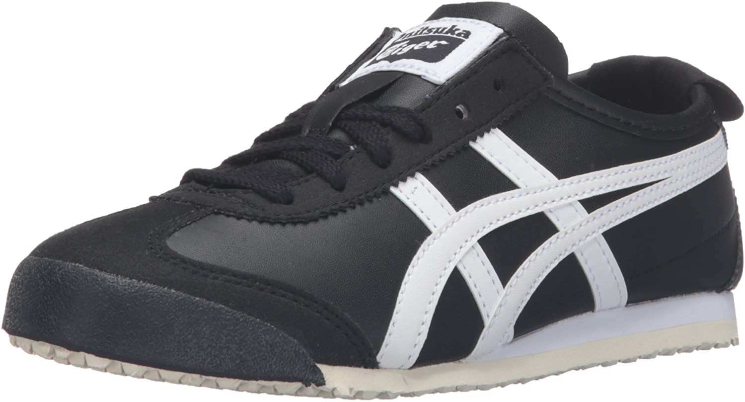 Onitsuka Tiger Kids by Asics Boy's Mexico 66 PS (Little Kid) Black White 2 Little Kid M