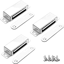 3Pack magnetische deurvangst, onehous 20kg gladde kast deurmagneten, 304 roestvrijstalen deur magnetische vangst, deurmagn...