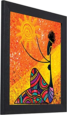 Home Attire Multicolor Abstract Painting, 12 X 14 Inch - HAP-1584