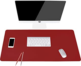 Writing Desk Pad Protector, YSAGi Anti-Slip Thin Mousepad for Computers,Office Desk Accessories Laptop Waterproof Desk Protector for Office Decor and Home (Wine Red, 35.4