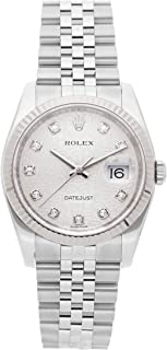 Rolex Datejust Mechanical (Automatic) Silver Dial Mens Watch 116234 (Certified Pre-Owned)
