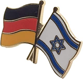 Germania & Israele Amicizia Bandiere Placcato In Oro Distintivo Spilla Smaltata