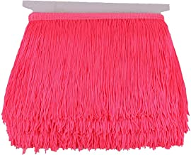 Heartwish268 Fringe Trim Lace Polyerter Fibre Tassel 6inch Wide 10 Yards Long for Clothes Accessories Latin Wedding Dress DIY Lamp Shade Decoration Black White Red(Fluorescent Peach)
