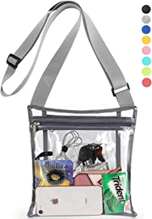 HULISEN Clear Purse Stadium Approved Crossbody Bag with Inner Pocket for Concerts