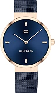 Tommy Hilfiger Womens Analogue Quartz Watch Liberty with Stainless Steel Mesh Band