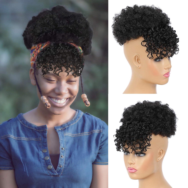 Liliyab Afro Puff Drawstring Ponytail Short Bangs Bun with Max 56% OFF 2021