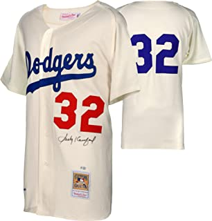 Sandy Koufax Brooklyn Dodgers Autographed Mitchell and Ness 1955 White Authentic Jersey - Fanatics Authentic Certified