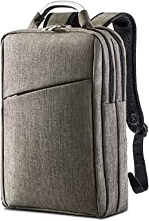COVAX Slim Laptop Backpack, Lightweight School College Backpacks Fits Under 15.6 inch Laptop, Fashion Business Computer Backpack for Women and Men (Brown)