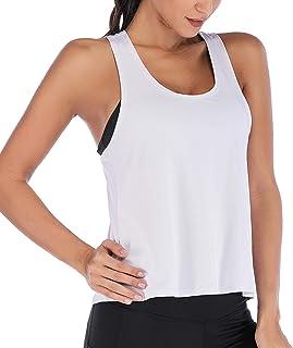 Ladies Summer Vest Top Running Sports Shirt Gym Yoga Top Loose Sleeveless Basketball Shirt Jogging Vest