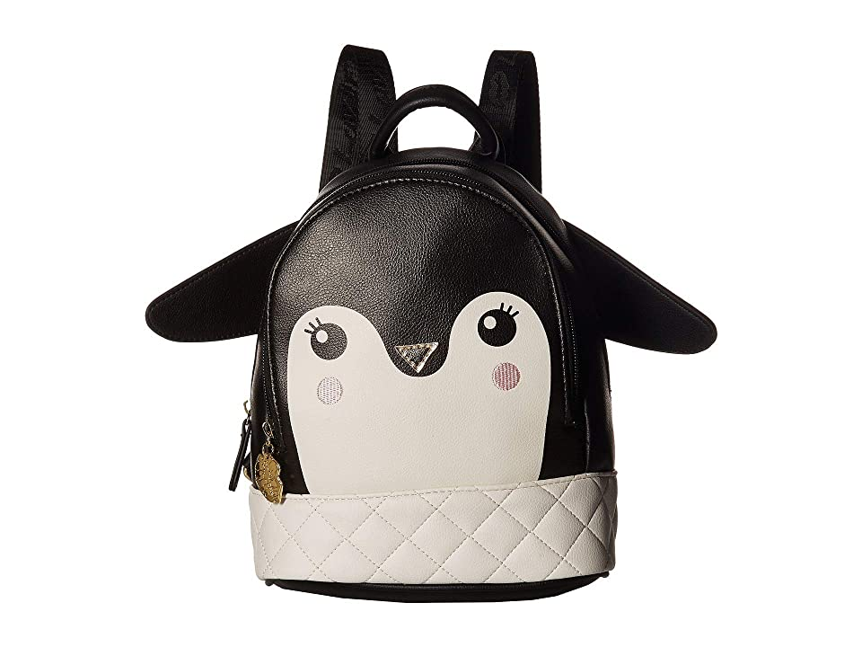 Luv Betsey Carol Mid Size Backpack (Black/White) Backpack Bags