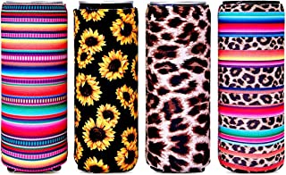 4 Pack Slim Can Coozies Skinny Can Cooler, Insulated Neoprene Drink Beer Coke Cover Sleeve, Reusable Can Cooler Sleeve
